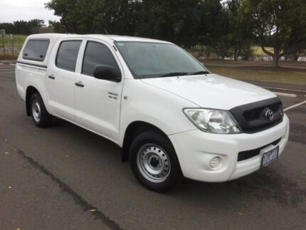 2010 Toyota Hilux GGN15R MY11 Upgrade SR White 5 Speed Automatic Dual Cab Pick-up Homebush West Strathfield Area Preview
