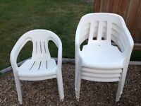 Plastic Chairs and Plastic Table