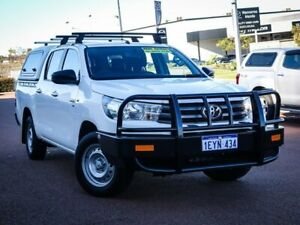 2015 Toyota Hilux GGN120R SR Double Cab 4x2 White 6 Speed Sports Automatic Utility Wangara Wanneroo Area Preview