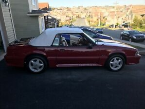 For sale 1992 Mustang GT convertible in excellent condition.