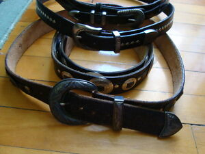 MEN'S WESTERN LEATHER BELTS BLACK&BROWN SIZE 36-38 West Island Greater Montréal image 2