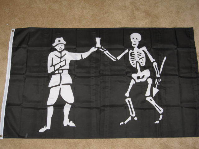 3X5 BLACK BART PIRATE FLAG JOLLY ROGER NEW BANNER F039