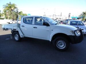 2012 Mitsubishi Triton MN MY13 GLX Double Cab White 5 Speed Manual Utility West Ballina Ballina Area Preview