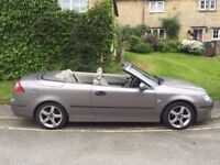 Saab 9-3 convertible, Vector 2ltr turbo, good condition, leather seats, MOT Mar 2019
