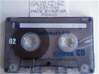 A2Z RARE GAUSS CD, GOLDSTAR x2, GOLDEN STAR, GRUNDIG x3, HITACHI (MAXELL) x2, KAYTAPE CASSETTE TAPES