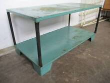 C4088 Rustic Industrial Teal Metal Workbench Kitchen Island Table Mount Barker Mount Barker Area Preview