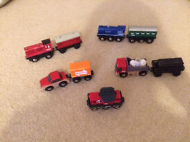 Assorted Toy Trains including Brio and Thomas & Friends