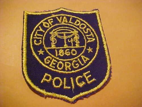 VALDOSTA GEORGIA POLICE PATCH SHOULDER SIZE UNUSED TYPE 2