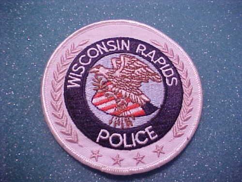 WISCONSIN RAPIDS WISCONSIN POLICE PATCH SHOULDER SIZE UNUSED 4 X 4