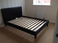 Double Bed Frame for sale. As new; sturdy. Available now from Saighton Camp site, Chester.