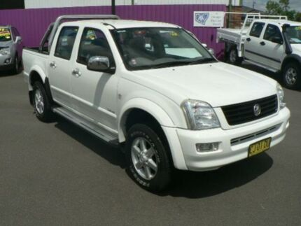 2004 Holden Rodeo RA LT White 5 Speed Manual Crew Cab P/Up