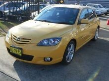 2004 Mazda 3 BK SP23 Yellow 4 Speed Auto Activematic Hatchback Holroyd Parramatta Area Preview