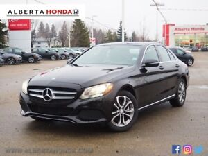 2016 Mercedes-Benz C-Class Low Kms. Panoramic Sunroof. Heated Le