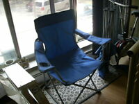 2 FOLDING PATIO/CAMPING CHAIRS EXCELLENT 20.00