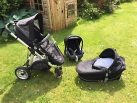 iCandy Apple stroller, iCandy pram & Maxi Cosi baby car seat with all accessories