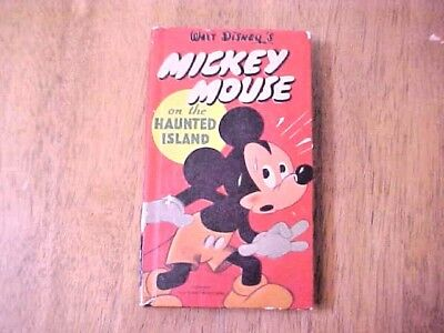 RARE Vintage 1950 Mickey Mouse on Haunted Island Better Little Book Disney
