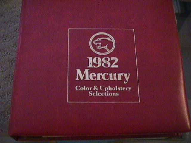 SCARCE 1982 MERCURY DEALER COLOR AND UPHOLSTERY SHOWROOM ALBUM