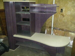 Entertainment TV stand center with end table