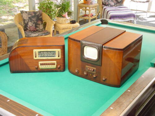 Prewar Sight and Sound 1939 GE, General Electric HM-171 TV and H-640 Radio