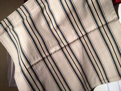 Blue Striped Toss Pillow - Pottery Barn Peninsula Stripe Pillow Cover Blue 20 sq Veranda Pin Stripe Toss
