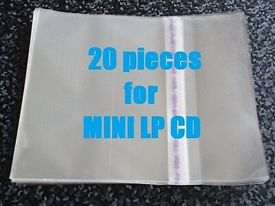 20 pieces Resealable Outer Plastic Sleeves for MINI LP CDs