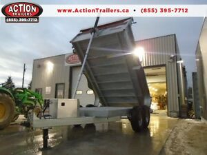 CANADIAN BUILT - 7 TON GALVANIZED DUMP TRAILER 7X12' A MUST SEE!