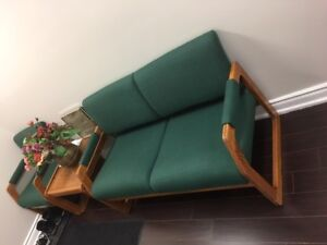 Retro 70's couch, chair and side table
