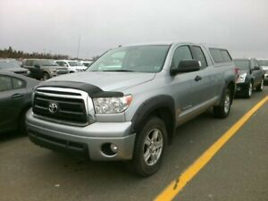 2013 Toyota Tundra with cap, extended cab SR5