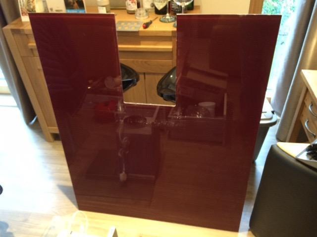Red Glass Splashbacks Red Glass Cooker Splashback