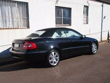 2003 Mercedes-Benz CLK500 A209 Elegance Obsidian Black 5 Speed Automatic Cabriolet Petersham Marrickville Area Preview