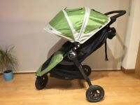 Baby Jogger City Mini GT buggy single stroller with protective travelbag and raincover