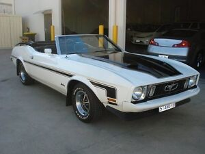 1973 Ford Mustang  White 3 Speed Automatic Convertible Brompton Charles Sturt Area Preview
