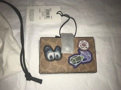 New Disney Coach X 1941 A Dark FairyTale Signature Patches Accordion Card Case