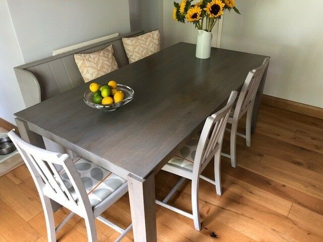 John Lewis Asha Dining Table Solid Mango Wood In Grey Finish In Horsham West Sussex Gumtree