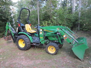 2012 John Deere 2320 With Backhoe and Attachments