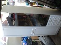 free single wardrobe with 1 mirrored door for collection only