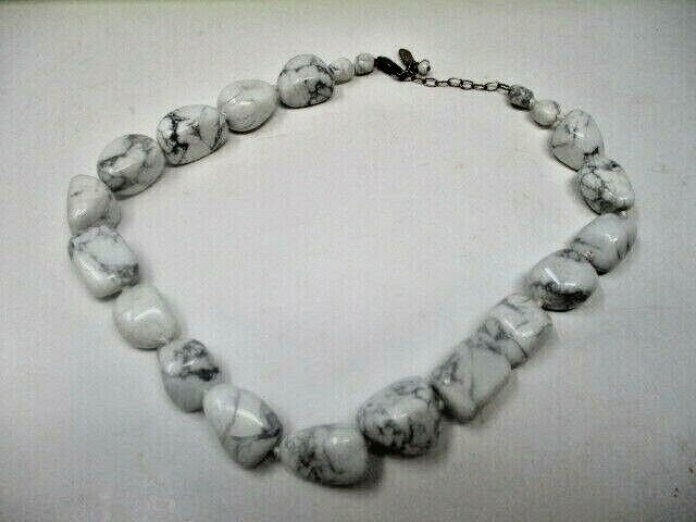 Anthology 925 White & Grey Beaded Necklace