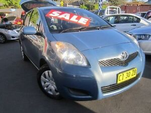 2009 Toyota Yaris NCP90R 10 Upgrade YR Blue 4 Speed Automatic Hatchback Greenacre Bankstown Area Preview