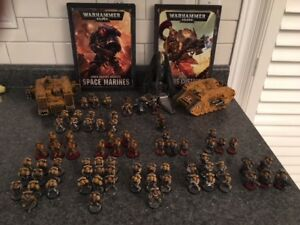 Warhammer 40k Imperial Fists Army Complete with 8th Ed Codex