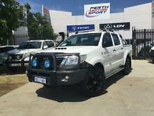 2013 Toyota Hilux KUN26R MY12 SR (4x4) Glacier White 4 Speed Automatic Dual Cab Pick-up Beckenham Gosnells Area Preview