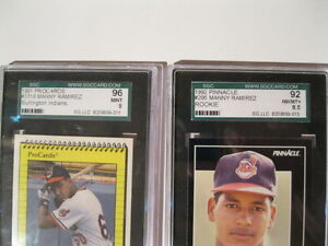 5 MANNY RAMIREZ CARDS WITH 2 GRADED London Ontario image 3