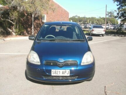 2002 Toyota Echo NCP10R Royal Blue 4 Speed Automatic Hatchback Alberton Port Adelaide Area Preview