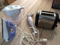 A Job lot of great household goods - BARGAIN! - toaster, Iron, Hand Blender, Water filter Jug.