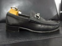 Mens Gucci Shoes Black Leather Horsebit Loafers UK 6 EU 40 Made in Italy
