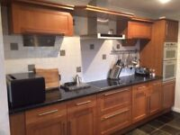 Used Scheiber kitchen units, sink and appliances for sale