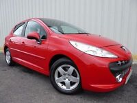 Peugeot 207 VTI Sport, 5 Door Edition, Economical 1.4 Sporty Small Car, in Red