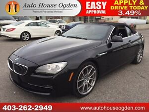 2012 BMW 650i CONVERTIBLE NAVI BCAM PADDLES 90 DAYS NO PYMT