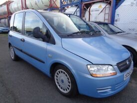 FIAT MULTIPLA 1.9 DIESEL 2005/55,6 SEATER, LOW MILES,LONG MOT, HISTORY, TRADE IN TO CLEAR