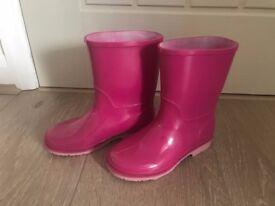 Clarks girls wellie boots