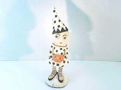 "10"" tall Bethany Lowe Halloween Clown With Pumpkin Bruce Elsass retired"